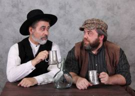 Robert Solis and Doug Brook as Lazar Wolf and Tevye