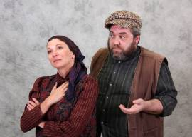 Rachel Michelberg and Doug Brook as Golde and Tevye