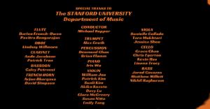 Orchestra Credits